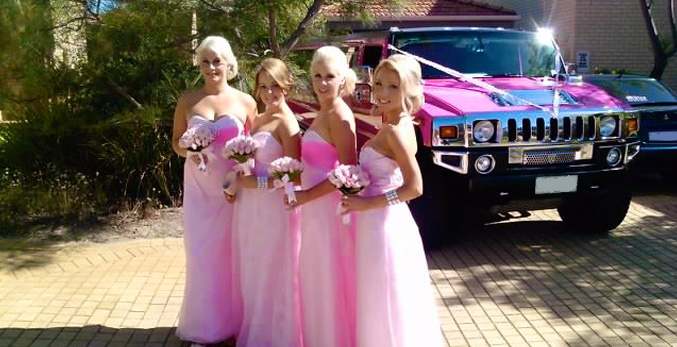 Pink Wedding limo Hire Chesterfield
